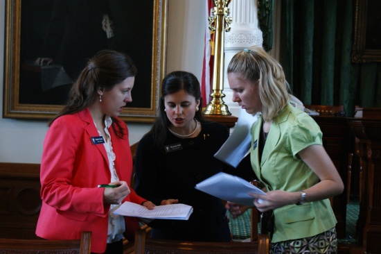 Discussing a bill on House Floor