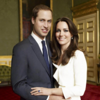 Prince William and Kate Middleton's official engagement portrait