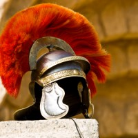 Roman soldier&#039;s helmet