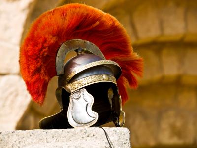 Roman soldier's helmet
