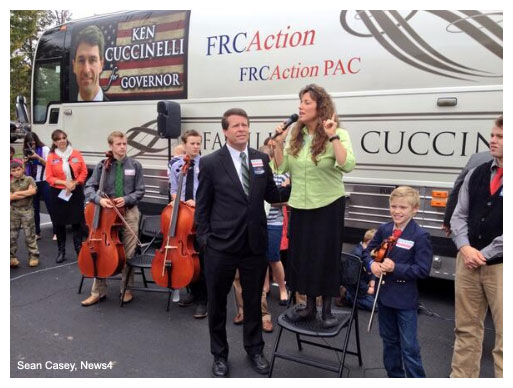 Duggars campaign for Ken Cuccinelli